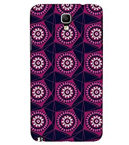 Printvisa Maroon Pentagon Pattern Back Case Cover for Samsung Galaxy Note 3 Neo N7505