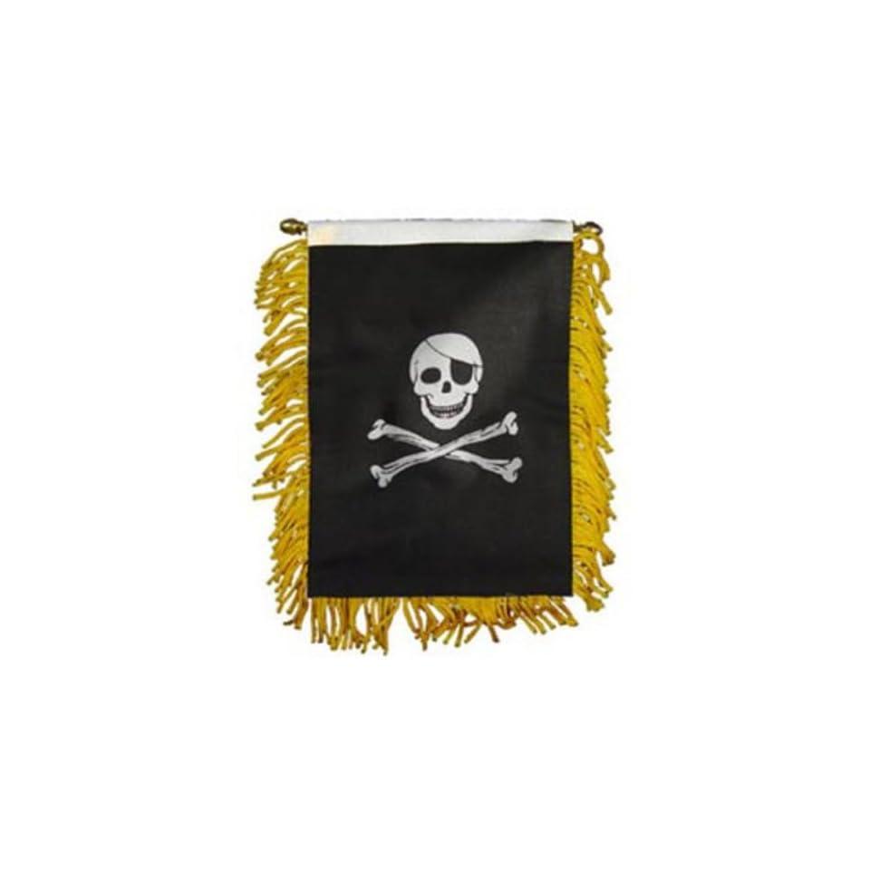 Skull & Bones Flag Mini Banner 3 x 5