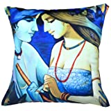 MeSleep Digital Print A Loving Couple Cushion Cover - Multicolor
