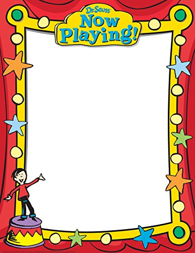 "Paper Magic Eureka Dr. Seuss If I Ran The Circus Blank 17"" x 22"" Posters and Charts"