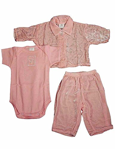 Little Giraffe - Baby Girls, 3-Piece Sleeveless Pant Set, Pink 4150-6Months