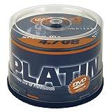 """Platinum 4,7 GB DVD-R DVD-Rohlinge (16x Speed) 50er Spindelvon """"Platinum"""""""