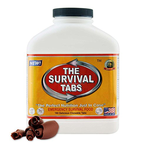 Survival Tabs 15-Day Prepper Food Replacement For Electric Meter Installer Emergency Food Supply Gluten Free And Non-Gmo - Chocolate Flavor