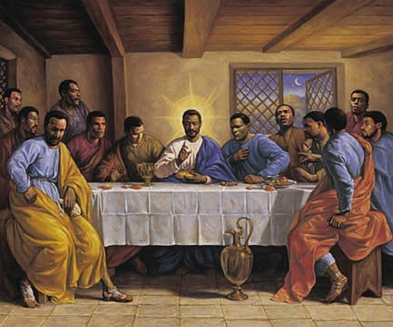 AFRICAN AMERICAN ART PRINT - LAST SUPPER - 24X36 POSTER (African American Pictures compare prices)