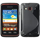 Silikon Hülle Samsung Galaxy Xcover - Schwarz - S5690 PhoneNatic TPU Case Silikon Cover Hülle Schutzhülle + Schutzfolie