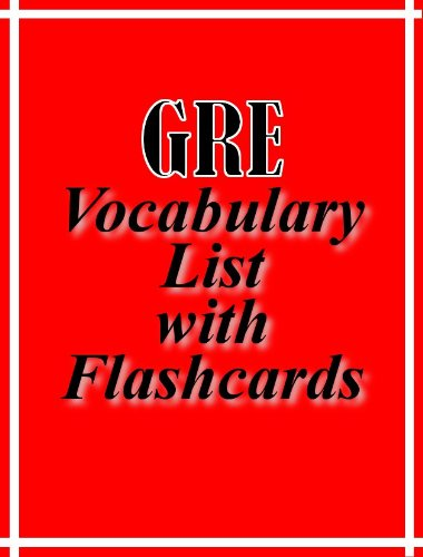 Various - GRE Vocabulary List with Flashcards (English Edition)
