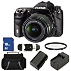 Pentax K-5 IIs Digital SLR Camera with SMC DA L 18-55mm f/3.5-5.6 Lens Kit. Includes: UV Filter, 16GB Memory Card, High Speed Memory Card Reader, Extended Life Replacement Battery, Charger & Carrying Case
