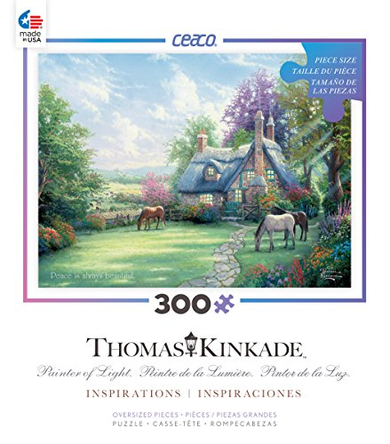 Ceaco Thomas Kinkade Inspirations - Spring at Creekside Cottage Puzzle