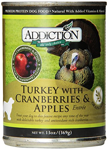 Turkey with Cranberries and Apples Entrée- (12/13 Ounce Cans) (Addiction Canned Dog Food compare prices)
