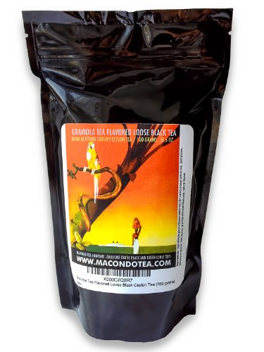 Graviola Tea Flavored Loose Black Ceylon Tea (100 Grams)