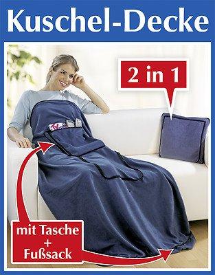 Wenko Kuscheldecke mit Tasche und Fußsack Original Wenko Tagesdecke Decke auch Kissen
