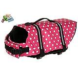 Cute! You Can Polka Dot Dog Life Jacket Floating Best Safety Sea River Life Jacket Pink Size Selection. (M) (japan...
