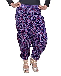 Soundarya Women's Regular Fit Harem Pants (AP9, Purple)