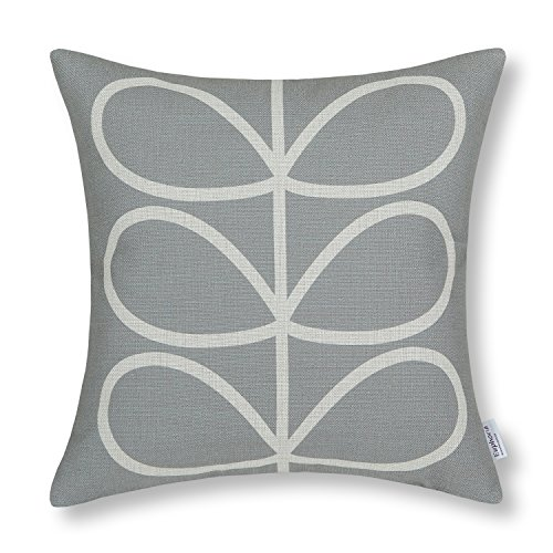 Euphoria CaliTime Cushion Cover Throw Pillow Shell Cute Stem Geometric Figures 18 X 18 Inches Gray