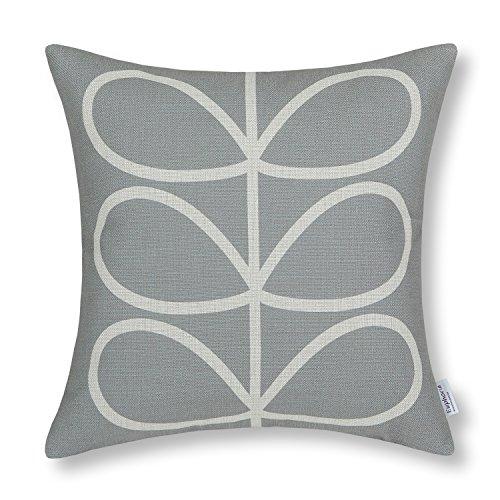 Euphoria CaliTime Cushion Cover Throw Pillow Shell Cute Stem Geometric Figures 18 X 18 Inches Gray