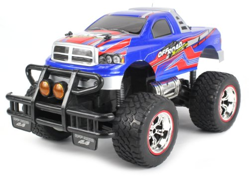 V-Thunder Pickup Electric Rc Truck Big 1:14 Scale Size Off Road Series Rtr W/ Working Suspension, Spring Shock Absorbers (Colors May Vary)