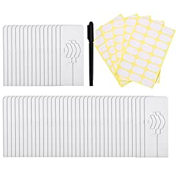 Caydo 50 Pieces Clothing Size Dividers Rectangular Hangers Closet Dividers with Marker Pen