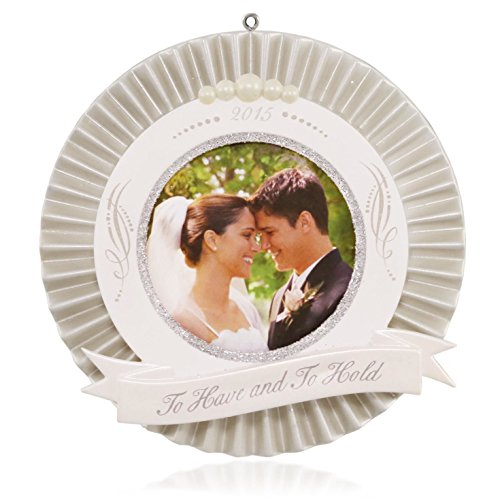 Hallmark QHX1107 Our Wedding Photo Holder Keepsake Ornament