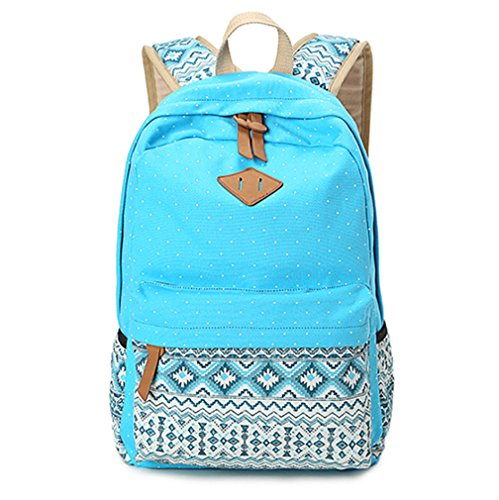0f6df6e8a5d9 Hitop Geometry Dot Casual Canvas Backpack Bag