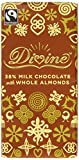 Divine Fairtrade Whole Almond 38 Percent Milk Chocolate Bar 100 g (Pack of 5)