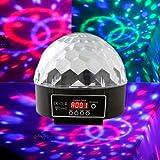 Fuloon 2013最新 DMX512 Disco DJ ステージライト デジタル6リングRGBライト Crystal Ball効果  ディスコライト・照明・演出/ 舞台照明  ディスコ、ボールルーム、カラオケ、バー、ステージ、クラブ、パーティなどでの演出に欠かせない!