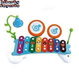 Liberty-Imports-Rainbow-Xylophone-Piano-Bridge-for-Kids-with-Ringing-Bell-and-Drums