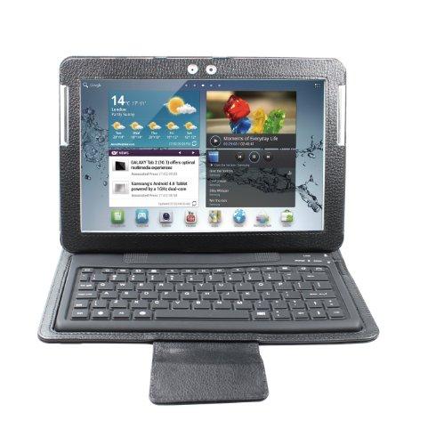 """Ewonder(R) Wireless Bluetooth Keyboard Case For 10"""" Samsung Galaxy Tab/Tab 2 10.1 (Black, 1 Year Manufacturer Warranty)"""
