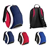 BAGBASE TEAMWEAR BACKPACK RUCKSACK - 7 GREAT COLOURS