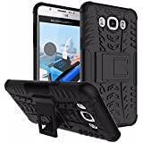 Vinjhraat Kickstand Diffender Cover For Samsung Galaxy Note 7 Back Cover In Black Colour