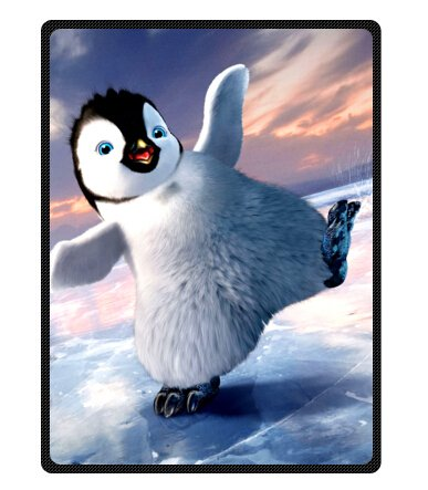 "Personalized Christmas Penguins Fleece Blanket Throws 58"" X 80"" (Large)"
