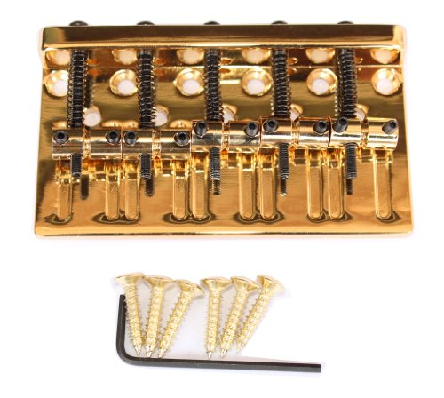 Surfing Gold Standard 5 String Bass Bridge Bass Saddle adjustable W/ Screws Hex wrench