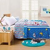 CASA Children 100% cotton Toddler Quilt Doraemon Mini Twin