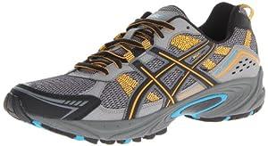 ASICS Men's Gel Venture 4 Trail Running Shoe,Carbon/Marigold/Black,10 M US