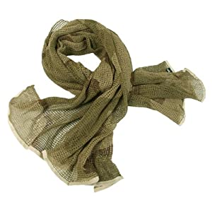 Army Scrim Net Scarf Tactical Face Veil Military Sorgo Airsoft Desert Camouflage by Mil-Tec