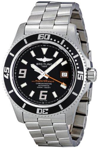Breitling Men's A1739102/BA80 Superocean 44 Black Dial Watch