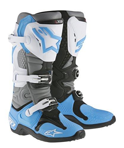 Alpinestars Tech 10 MX Offroad Boots Cyan/White 13 USA