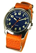 "TOKYObay Ladies or Mens ""Basic"" Leather Band Relaxed Style Watch in Orange"