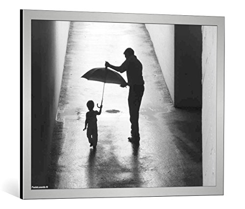 quadro-con-cornice-paolo-luxardo-bimba-con-ombrello-e-papa-stampa-artistica-decorativa-cornice-di-al