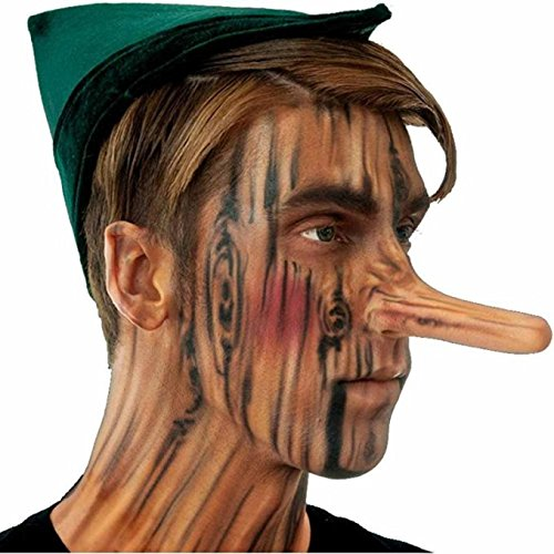 [Woochie by Cinema Secrets Pinocchio Nose Latex Appliance and Adhesive] (Pinocchio Adult Costumes)