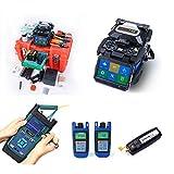 ORIENTEK T45 Fusion Splicer+ K330 OTDR SM 1310/1150nm + Fiber Cleaver T30C+ Optical light Source+ Optical Power Meter FTTH Tool Kit