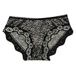 mYbare Dolly Women's Bikini Black Animal Print Panty (Pack of 1)