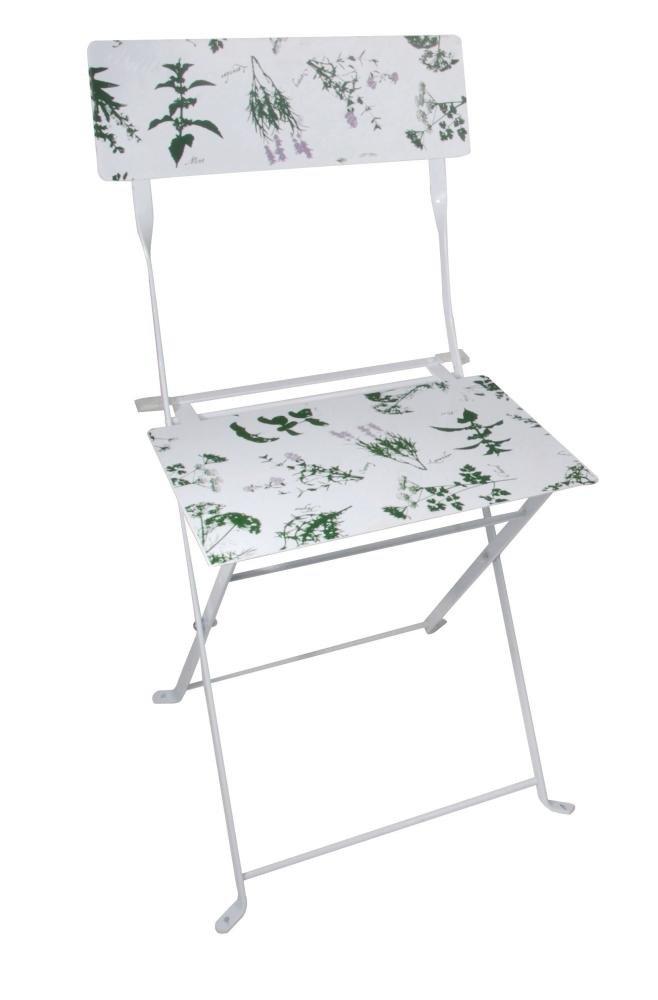 5 Stück Esschert Design Gartenstuhl, Balkonstuhl mit Kräuterdruck, klappbar, ca. 43 cm x 47 cm x 83 cm online bestellen