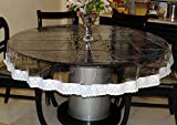 ROUND DINING TABLE PLASTIC WATERPROOF TRANSPARENT SHEET WITH WHITE BORDER by RSHP