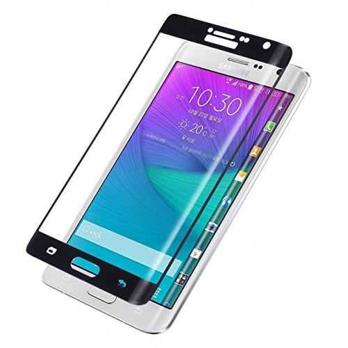 Dogxiong Black Full Cover Connect Curve Edge Anti-scratch Inner concave Desgin Glass Screen Without Gap Tempered Glass Protectors Guard Film For Samsung Galaxy Note Edge N915 (Note Edge Tempered Glass compare prices)