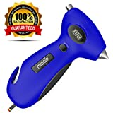 Tire Pressure Gauge with Best Auto Rescue Tool Features - Car Glass Breaker, Emergency Seatbelt Cutter, Tire Tread Depth Gauge, Bright Digital Reading and a Handy Flashlight - Get Safe, Get Mogix!