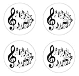 Music Notes Edible Cupcake Toppers Decoration