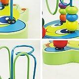 FIRLAR® Jouet Jeu eveil-12 Boules Circuit de Motricite en bois pour bébé