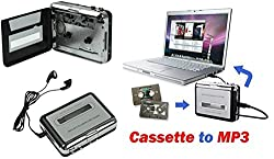 Technomart Ezcap USB Cassette Capture, Convert Tapes and Cassette to MP3, Portable USB Cassette-to-MP3 Converter Capture