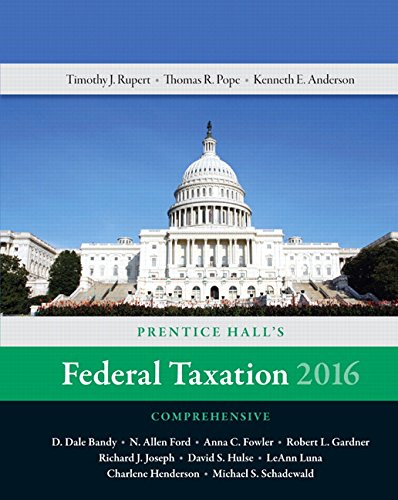 Prentice Halls Federal Taxation 2016 Comprehensive Plus MyAccountingLab with Pearson eText -- Access Card Package (29th Edition)