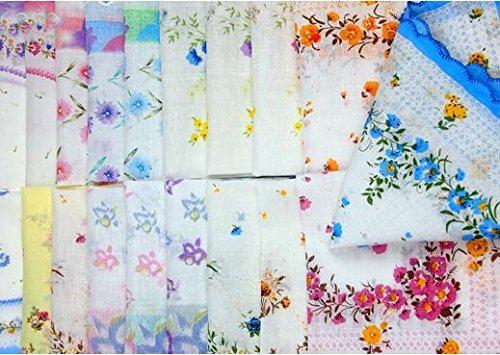 Uniquezone Vintage Floral Handkerchief Wendding Party Fabric Hanky 4